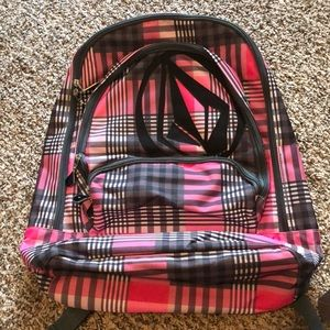 Pink and Black Volcom Backback (NEVER USED)